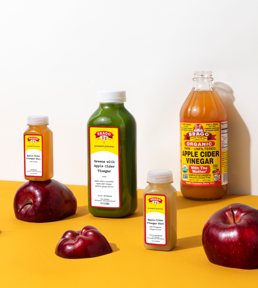 apples and pressed juicery bragg apple cider vinegar juices and shots