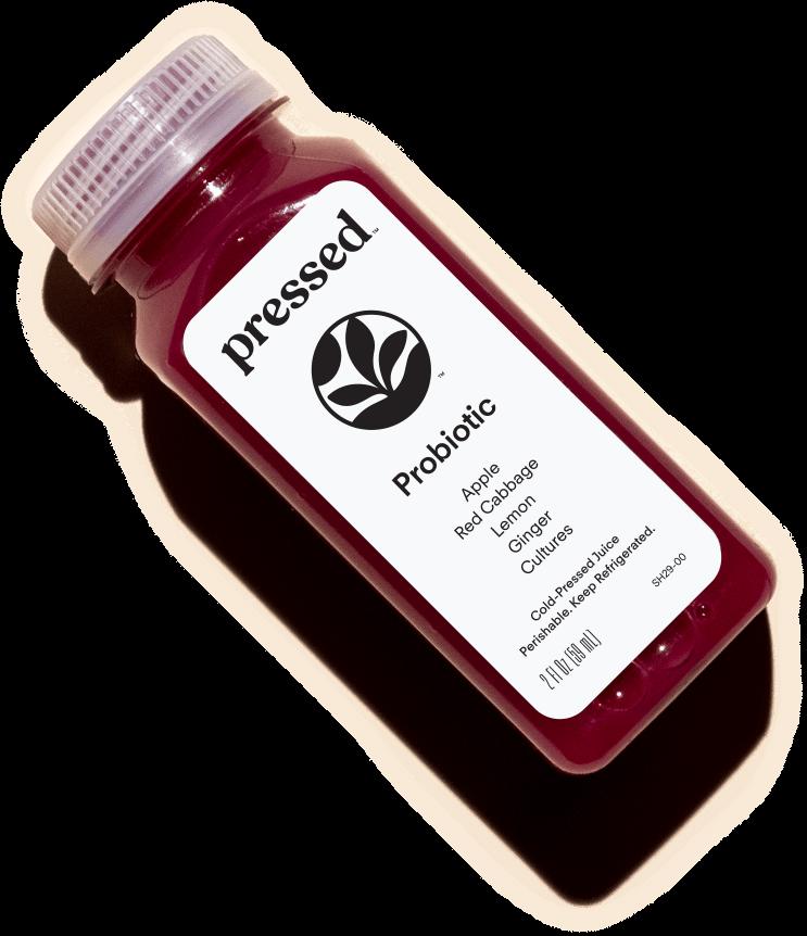 pressed probiotic shot