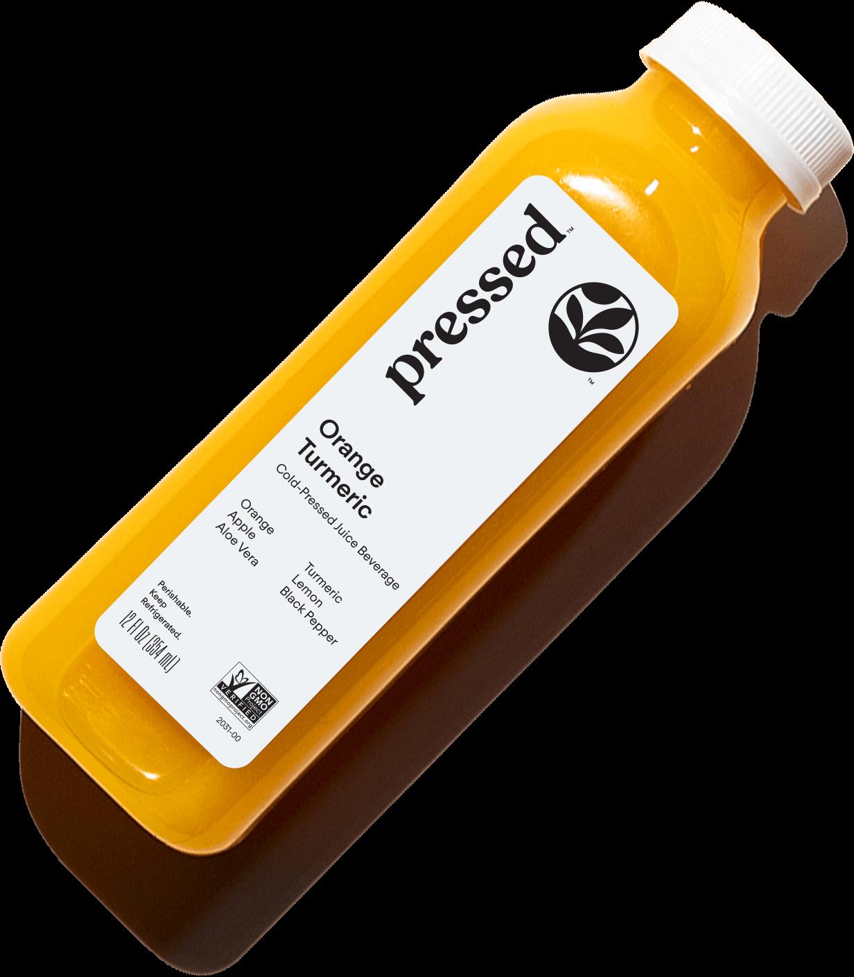 orange tumeric juice